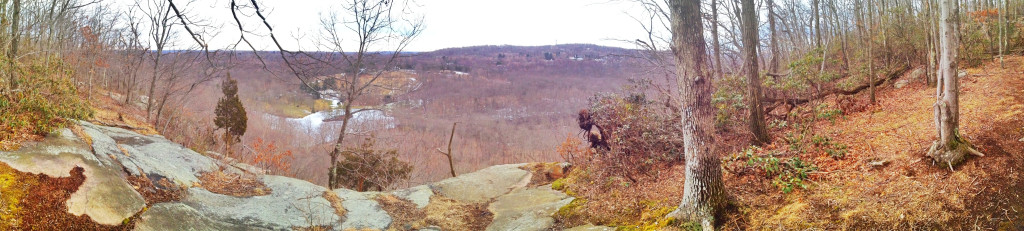 Wintertime at the Raven Rocks overlook.