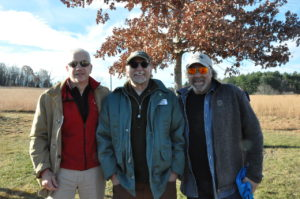 Francis Corcoran (County Legislator, 2nd district), Jeff Main (park superintendant), and Tom Cohn (past president of the Friends of Trailside). (Photo by Alan Wegener)